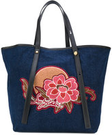 See by Chloe patch tote bag - women - Cotton/Polyester/Polyurethane - One Size
