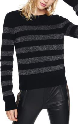 Pam & Gela Metallic Stripe Crewneck Pullover