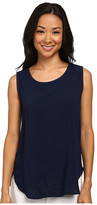 Allen Allen Sleeveless Crew with Lace Back
