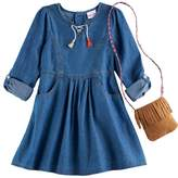 Nannette Girls 4-6x Denim Dress