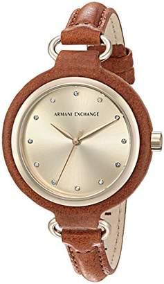 Armani Exchange Women's AX4236 Leather Quartz Watch