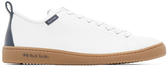 Paul Smith White and Navy Miyata Sneakers
