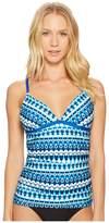 Jantzen Tie-Dye Geo Stripe Tankini Top Women's Swimwear