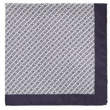 HUGO BOSS Silk Pocket Square With Digital Print - White