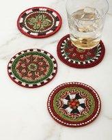 Mackenzie Childs MacKenzie-Childs Festivity Beaded Coasters, Set of 4