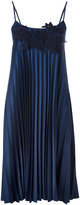 P.A.R.O.S.H. pleated dress - women - Cotton/Polyester - M