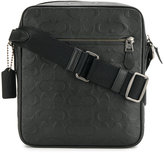 Coach embossed logo messenger bag