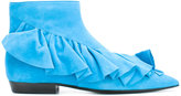 J.W.Anderson ruffled ankle boots - women - Leather/Goat Suede - 38