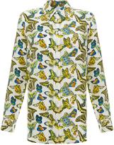 Equipment Reese Butterfly-Print Silk Shirt