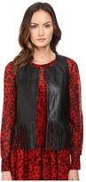 Moschino Leather Fringe Top Women's Clothing