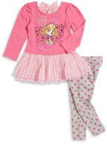 Nannette Girls 2-6x Paw Patrol Dress and Polka Dot Leggings Set