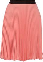 Neil Barrett Pleated chiffon skirt