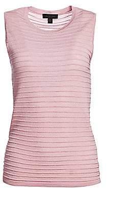 Saks Fifth Avenue Women's COLLECTION Ribbed Sleeveless Merino Lurex Top