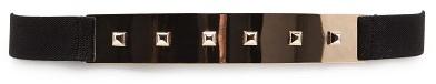 MANGO Studded plate belt