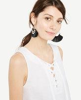 Ann Taylor Tall Sleeveless Lace-Up Peplum Top