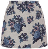 MSGM Neoprene Floral Mini Skirt