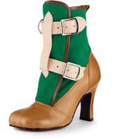 Vivienne Westwood Bondage Boots Green/Tan Size 3