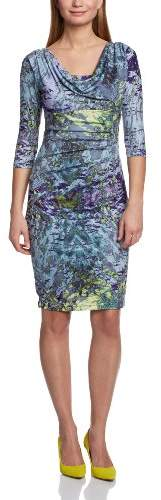 Almost Famous Women's Ripple Reflection Print Jersey A-Line Sleeveless Dress