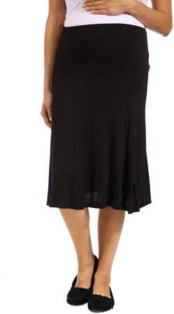 ccb8488084f7 24/7 Comfort Apparel Black Maternity Skirts - ShopStyle