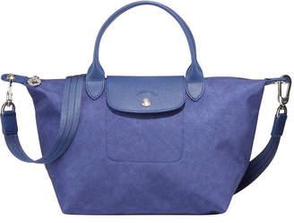 Longchamp Le Pliage Neo Denim-Print Top-Handle Bag