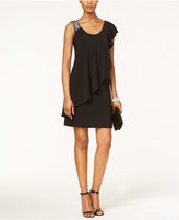 Betsy & Adam Embellished Overlay Sheath Dress