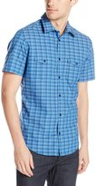Calvin Klein Men's Short Sleeve Yarn Dye Mini Heather