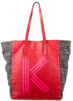 Kenzo Leather & Wool K Tote