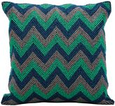 Kathy Ireland Home® by Gorham Chevron Square Throw Pillow in Blue/Grey