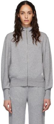 Chloé Grey Cashmere Zip-Up Hoodie