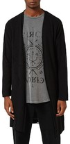 Topman Men's Ripped Longline Cardigan