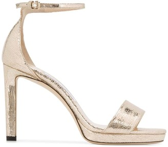 Jimmy Choo Metallic Lizard Print Leather