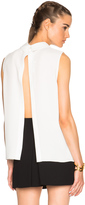 McQ by Alexander McQueen Open Back Pleated Top