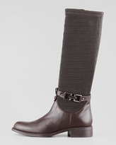 Aquatalia by Marvin K Aquatalia Upswing Stretch Loop Leather Boot, Espresso