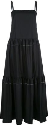 Rosetta Getty Sleeveless Tiered Dress