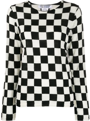 Comme des Garcons Checkered Jumper