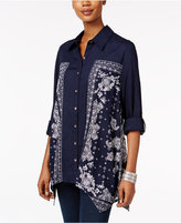 Style&Co. Style & Co. Petite Paisley Bandana Shirt, Only at Macy's
