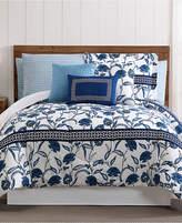 Pem America Danica 12-Pc. Floral-Print Queen Comforter Set Bedding