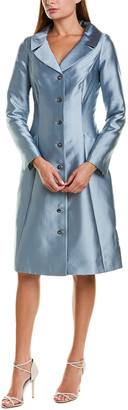 Teri Jon By Rickie Freeman Silk-Blend Coat Dress