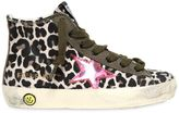 Golden Goose Deluxe Brand Francy Leopard Canvas High Top Sneakers