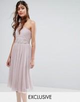 Little Mistress One Shoulder Dress with Embellishment