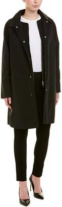 Jane Post Mock Double Raincoat