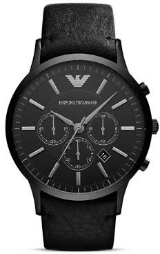 Emporio Armani Quartz Chronograph Green IP Stainless Steel Watch, 43 x 51 mm