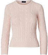 Polo Ralph Lauren Slim Cable-Knit Cotton Sweater