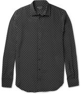 Alexander McQueen Slim-Fit Printed Silk Shirt