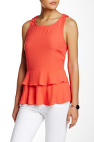 Willow & Clay Tiered Peplum Sleeveless Blouse