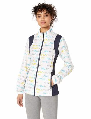 Cutter & Buck Women's Wind-Water Resistant UPF 50+ Cove Print Packable Jacket