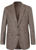 Richard James Brown Slim-fit Slub Silk, Wool And Cashmere-blend Blazer - Brown