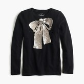 J.Crew Girls' sequin bow T-shirt