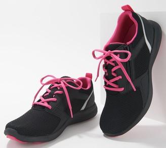 Vionic Mesh Lace-Up Sneakers w/ Zipper Detail - Lyla