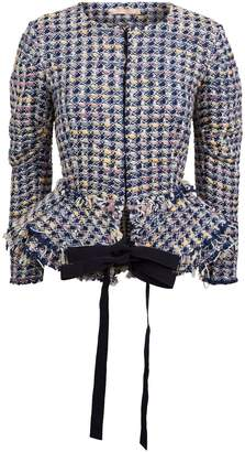 Brock Collection Panicucci Tweed Belted Jacket